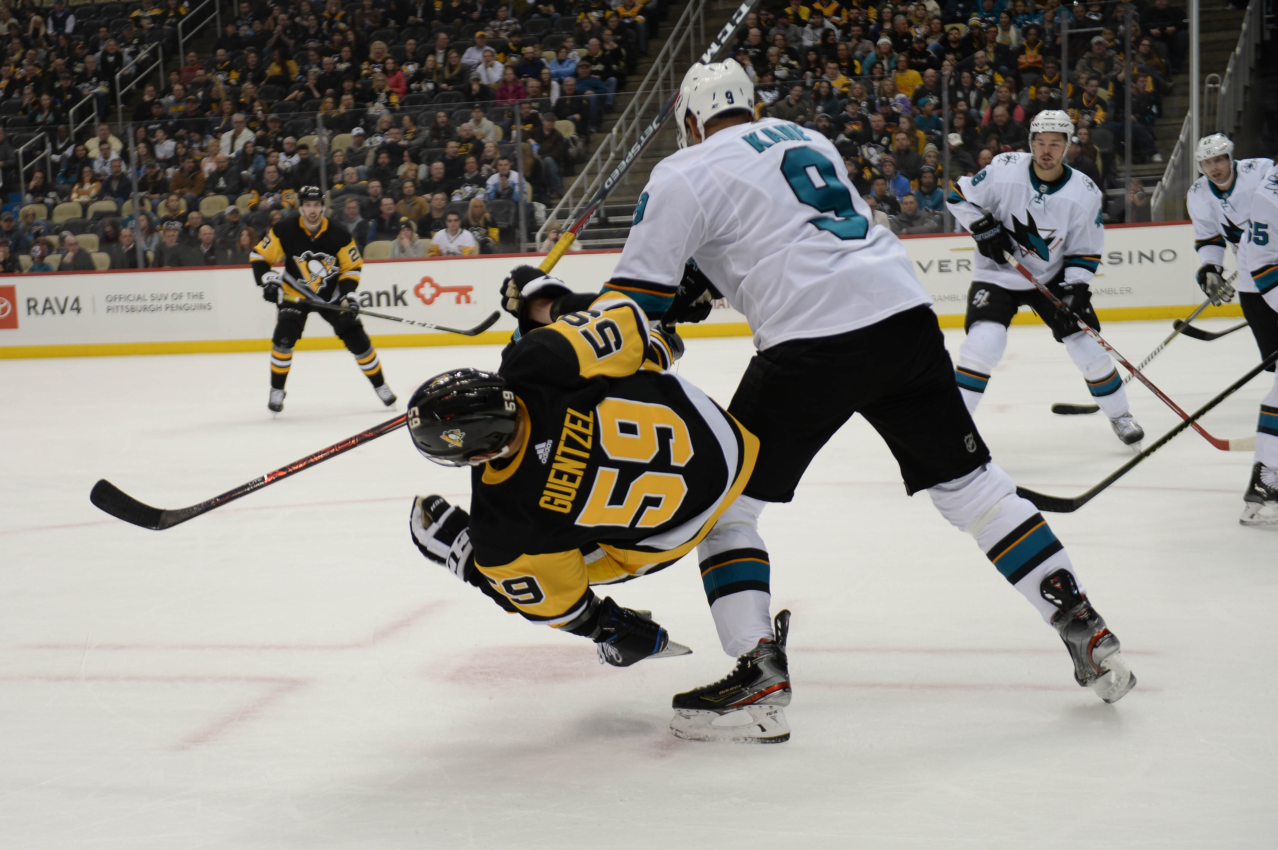 Burns leads San Jose to 4-0 blanking of Pens